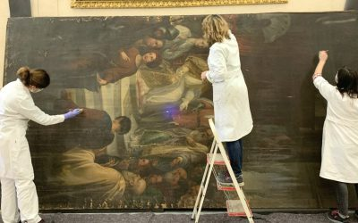 Un nuovo incarico ai Musei Reali di Torino: il restauro del grande dipinto su tela di Tommaso Gazzarrini della Galleria della Sindone